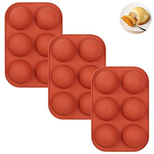 Halbkreisform, Silikonkuchenform, weiche Süßigkeiten, Geleepudding, Backblech, Silikonform für Keksform, 6-Loch-Halbkreis