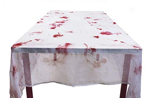 Boland 72108 tafelkleed bloedig, wit/rood