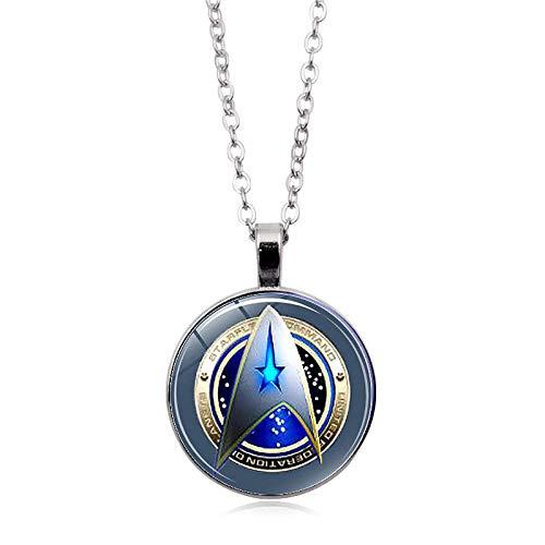 WYFLL Europäischer und amerikanischer Film umgeben Star Trek Time Edelstein Halskette Europäische und amerikanische Mode Lady Glas Anhänger Schlüsselbein Kette