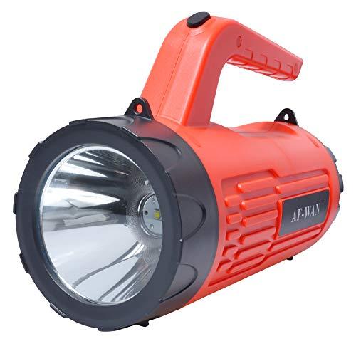 AF-WAN Linterna LED Recargable 6000 Lúmenes Potentes linternas LED Linternas para acampar Linterna táctica Impermeable Super brillante Proyector Reflector de mano [Clase de eficiencia energética A]