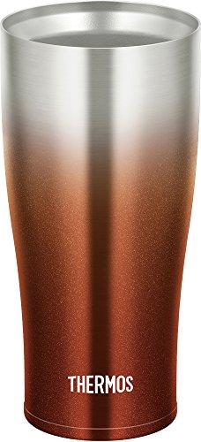 サーモス 真空断熱タンブラー 420ml スパークリングブラウン JDE-420C SP-BW