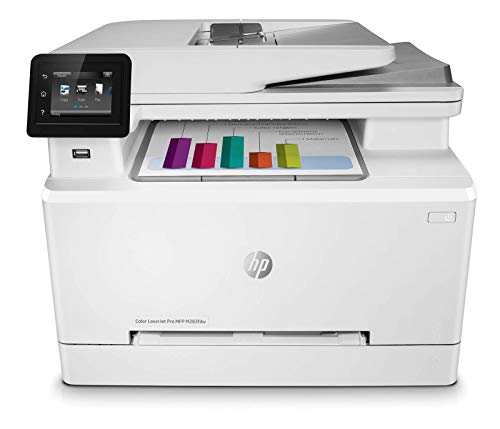 HP Color LaserJet Pro M283fdw Wireless All-in-One Laser Printer, Remote Mobile Print, Scan & Copy, Duplex Printing, Works with Alexa (7KW75A)