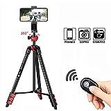 BONFOTO B671A Tragbare SLR Kamera-Stativ, Stativ Reise, Dreibeinstativ mit 3D-Kugelkopf...