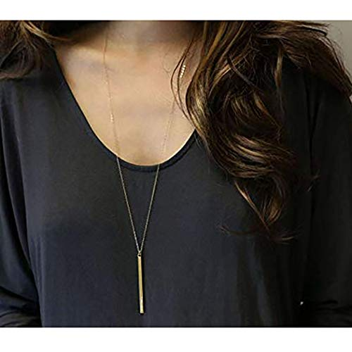Fstrend Fashion Long Necklace Dainty Simple Chain Necklaces Jewelry for Women and Girls (Gold)