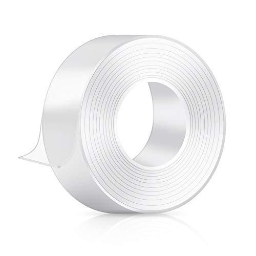 Double Sided Tape for Walls - Heavy Duty Mounting Tape - Adhesive, Washable and Reusable - Wall Tape for Picture Photo Carpet Decoration - Poster Tape Roll 16.5ft