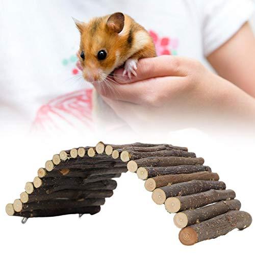 Folany Escalera para hámster, Puente de Arco para Mascotas Puente de Arco de Madera para Conejos, Animales pequeños, Mascotas para Masticar y trepar(M, Blue)