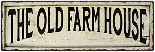 Amazon Com The Old Farm House Sign Farmhouse Signs Wall Decor Art Country Decorations Rustic Vintage Home Tin Plaque Kitchen Gift 6 X 18 High Gloss Metal 206180028283 Furniture Decor