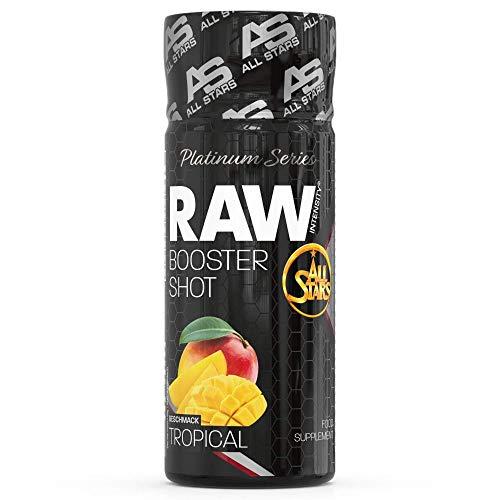 All Stars Raw Intensity Booster Shot - 16 x 60 ml Fläschchen, Tropical, 1er Pack (1 x 960 ml) Pre Workout Booster mit wichtigen Inhaltsstoffen für ein perfektes, intensives Training