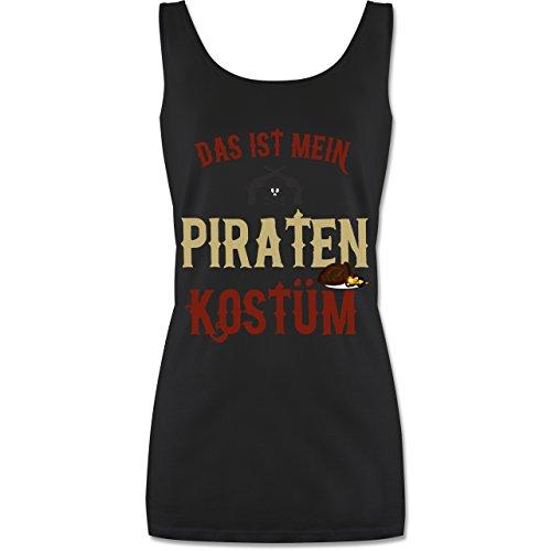 Karneval & Fasching - Das ist Mein Piraten Kostüm - S - Schwarz - Piraten Damen - P72 - Tanktop für Damen und Frauen Tops