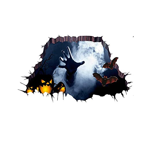 CloverGorge Pegatinas de Suelo de Halloween Pegatinas de Suelo de diseño de Escena de casa embrujada Pegatinas de Suelo de Ventana de distribución de Miedo