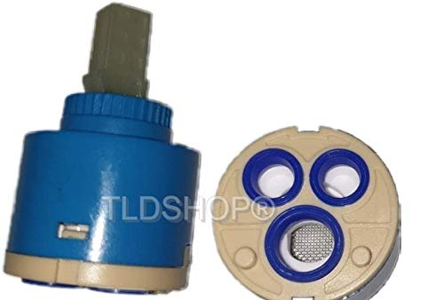 TLDSHOP - Cartuccia 40 mm di Ricambio per Miscelatore, Cartuccia a Disco in ceramica (40 mm)