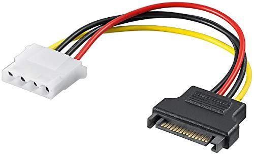 """PremiumCord Netzteil SATA Stecker - Molex 5.25""""Female 17cm"""