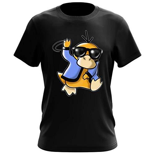 Okiwoki T-Shirt Homme Noir Parodie Pokémon - Psykokwak réalisant Le Gangnam Style - Gangduck Style by Psyko : (T-Shirt de qualité Premium de Taille XL - imprimé en France)