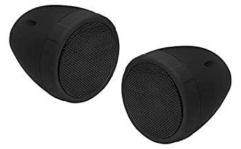 BOSS Audio Systems MCBK425BA Motorcycle Speaker System - 2 3 Inch Weatherproof Speakers with Built-in Amplifier,1 Volume Control Great for Use with ATVs Motorcycles and All 12 Volt Vehicles
