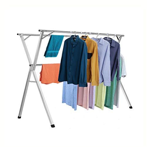 XNDCYX Séchoir À Linge Étendoir, Étendoir À Linge, Compacte, Réglable, Pliable en Acier Inoxydable, Deluxe Grand D'étendage, pour Chaussettes, Draps, Vêtements, Easy-Lift,1.6