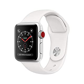 Apple Watch Series 3 (GPS + Cellular, 38mm) - Silver Aluminum Case with White Sport Band (B07K4B3SVP) | Amazon price tracker / tracking, Amazon price history charts, Amazon price watches, Amazon price drop alerts