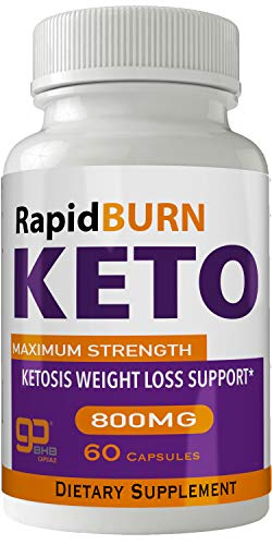 Rapid Burn Keto Diet Pills Advanced Energy Ketones with Go BHB Capsules Ketones Ketogenic Supplement for Weight Loss Pills 60 Capsules 800 MG GO BHB Salts to Help Your Body Enter Ketosis More Quickly 1