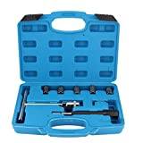 Limpiador Set-7Pcs Diesel Injector Seat Cutter Cleaner Set Universal Injector Re-Face Tool Kit