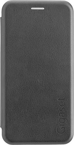 Gigaset Book Hülle (R&um Schutz vermeidet Schäden, anti-scratch, Full Body Schutzhülle, mit 360°, Zubehör geeignet für GS185 Smartphone) schwarz