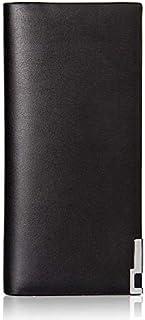 Baellerry Ultrathin PU Leather Long Wallet for Men-Black