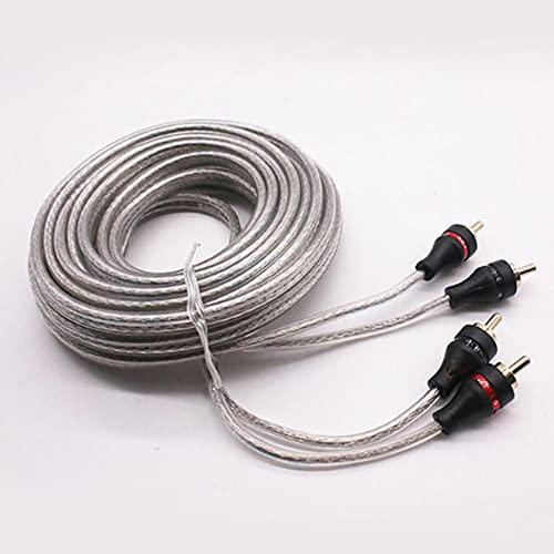 TAHMM Cable de Cobre Puro subwoofer de Audio Alambre de Audio Alambre de Alambre de Alambre de Cobre Puro Escarpado Cable de Altavoz de Alambre de Alambre de Cobre (Color : 5 Meters)