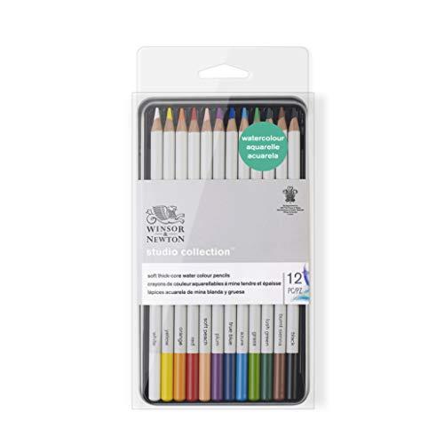 Winsor & Newton acuarela, Multicolor, 12 lápices
