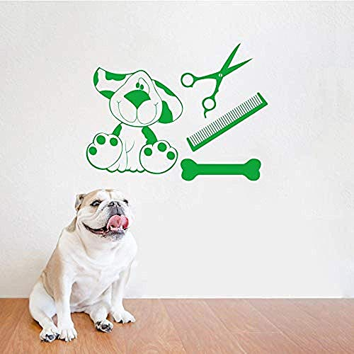 Wall Sticker voor huisdieren, woonkamerdecoratie, vinyl, dog shop, kam, botten, wand, kunst, thuisdecoratie, 40 x 52 cm