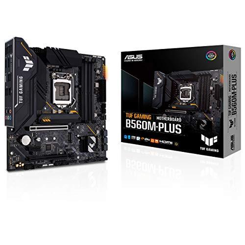 ASUS TUF GAMING B560M-PLUS, Scheda madre Intel LGA 1200 mAtTX, 2x M.2, HDMI 2.0, 2,5 Gbps Ethernet, Thunderbolt 4, PCIe 4.0, Aura Sync