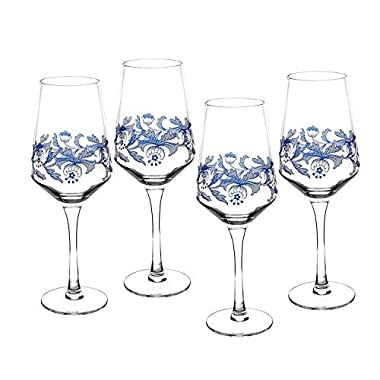 Spode Blue Italian Wine Glasses - Set of 4