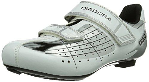 Diadora PHANTOM - Calzado de ciclismo Unisex adulto, Blanco (silber/Blanco/Negro 1573), EU 48