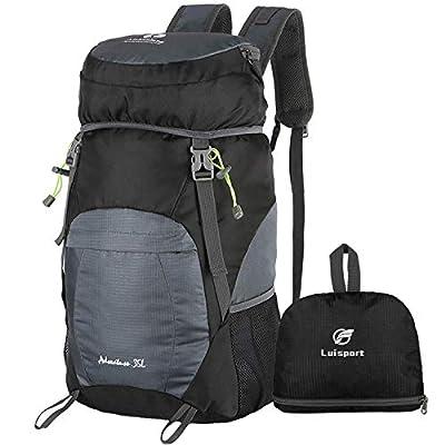 Luisport 40L Foldable Backpack Waterproof Packable Hiking Backpack Hike Backpack Camping Camp Backpack (3-grey)