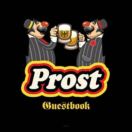 PROST Guestbook: German themed register for Beerfest, Parties, Keggers, and Reunions. Berlin Black.