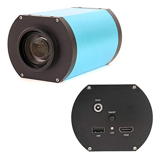 HYY-YY LCD Digital HDMI Autofocus Industrial Microscopio Cámara Óptica Lente 1080P 60FPS IMX290 CMOS Sensor de Imagen Parfocal Gran Campo de Visión (Color: Sin Ranura para Tarjeta TF)