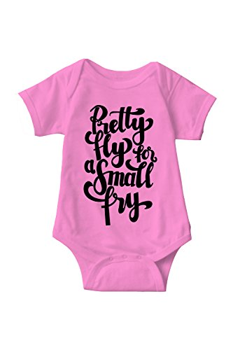 Sarcastic ME Pretty Fly for A Small Fry Unisex Infant Onesie Funny Hilarious Baby Gift Pink