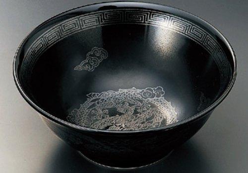 BLACK-GLAZE-DRAGON 8.3inches Noodle bowlJiki Japanese Original Porcelain