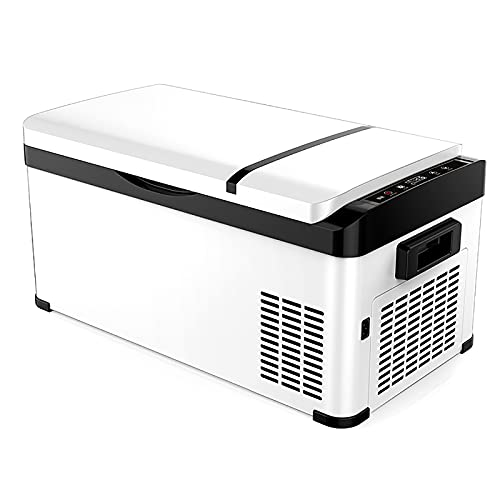 Nevera Portátil Eléctrica Refrigerador de Coche 12V / 24V / 220V Enfriador Eléctrico para Hogar Camping Viajes Automóvil, Área de Congelación/Área de Almacenamiento en Frío, 20L / 26L / 30L