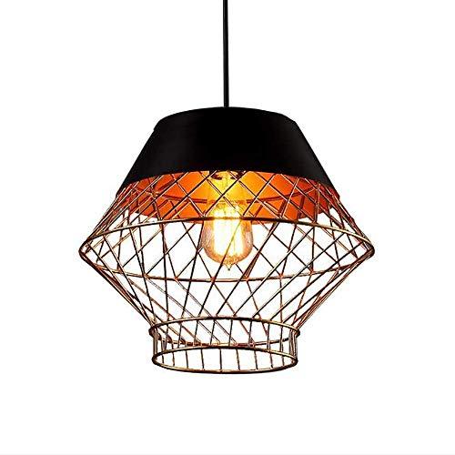 Exquisita Estilo Vintage Industrial Pantallas de iluminación, la lámpara de Techo Pantallas de iluminación de Techo de la lámpara de la lámpara Birdcage ático Restaurante Café Bar (sin la Bombilla)