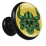 Z&Q Tirador Pomo Mueble Infantil Cráneo Cornudo De Pomos Tiradores para Armario/Cajón/Baño para Habitación De Infantil Decoración 4 Pcs 32mm