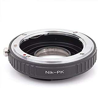 Lens Mount Adapter with Optical Glass for Nikon Lens to Pentax PK/K Mount Camera Body, fits Pentax K7 K5 K3 K50 K30 K2 km kx kr K1000 k100d k100ds k200d k10d k20d