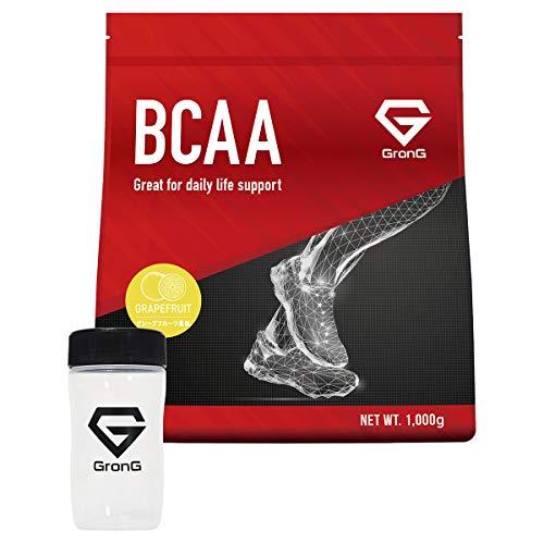 グロング BCAA シェイカーセット アミノ酸 グレープフルーツ風味 1kg (100食分) 含有率84% 国産