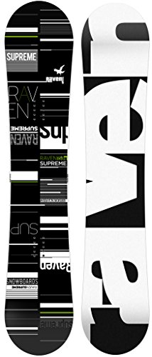 RAVEN Snowboard Supreme Black/Green (163cm Wide)