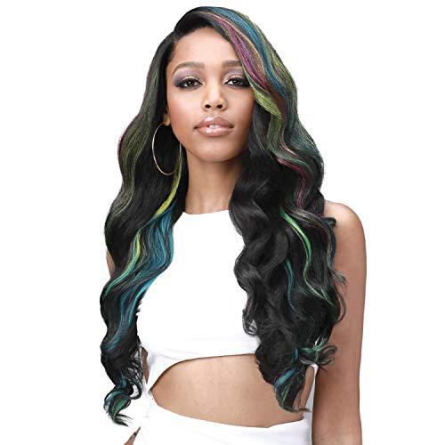 Bobbi Boss Human Hair Blend Glueless 13X7 Lace Frontal Wig MBLF004 London (1B)