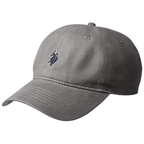 U.S. POLO ASSN. Herren Washed Twill, 100% Cotton, Adjustable Baseball Cap, dunkelgrau, Einheitsgröße