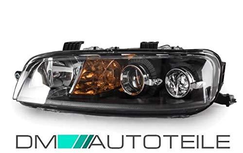DM Autoteile Punto 188 Scheinwerfer H1/H1 Links Schwarz für LWR ab 99-03 ohne Nebel