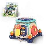 Actividad bebés niños 6 en 1 Cube Instrumentos musicales de batería luces y...
