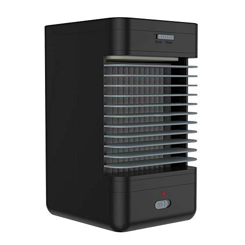Humidificador enfriador de aire, aire acondicionado, ventilador de enfriamiento personal Tanque de agua incorporado tres en uno para dormitorio, oficina, tocador, mesita de noche
