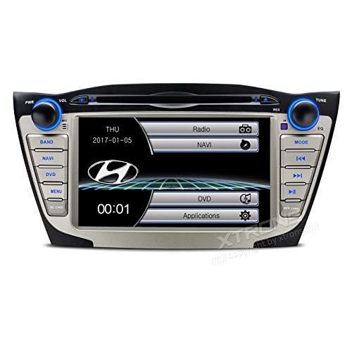 Autoradio 17,8 cm , 2 DIN, für Hyundai IX35 Bluetooth, Navi GPS, individuell angepasste Spiegelverbindung