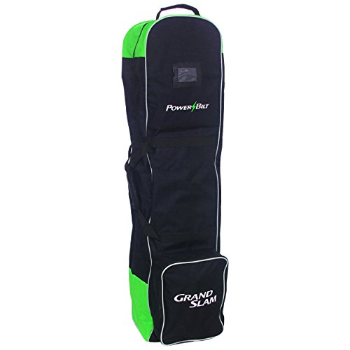 PowerBilt Golf Grand Slam Wheeled Travel Cover, Black/Green