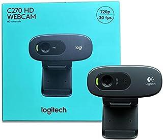 Logitech C270 HD Webcam | 720p/30fps | Built-in Noise Reducing Mic | Auto Light Correction | For Skype,FaceTime,Hangouts,W...