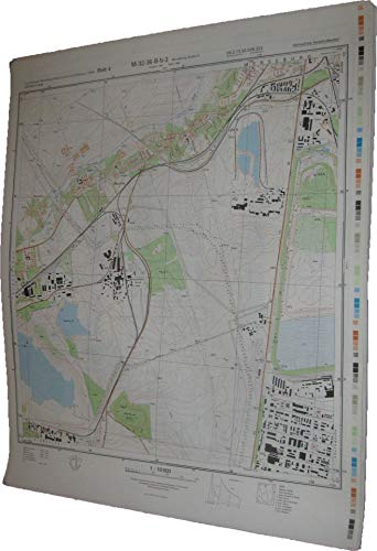 Topographischer Stadtplan Merseburg (Saale) S Blatt 4 (M-32-36-B-b-2)